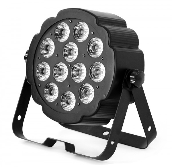 LED SPOT124 flacher LED Spot 12x 5W MultiChip RGBW LEDs 7 DMX Kanäle