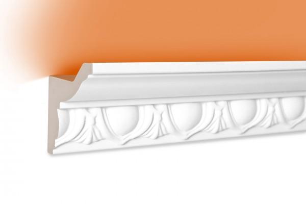 LED Stuckprofil Typ: 3 - 58x48mm PU 2m Länge lichtundurchlässig überstreichbar