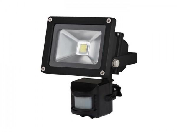 FL10W-PIR LED Flutstrahler inkl. Bewegungsmelder 10W 3000K schwarz