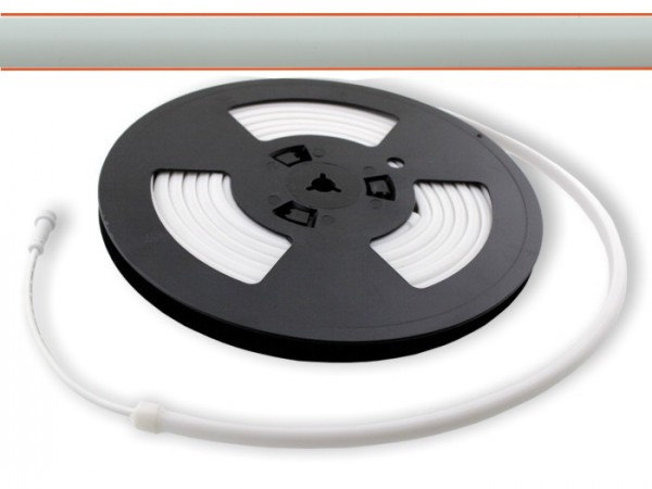 LED Flex Stripe LEDTUBE 5m 2500-2600K opalweißer Schlauch ohne Pixel 24V DC 300LED/m IP67 CRI90