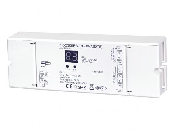 SR-2309EA-RGBCCT (DT8) DALI LED Controller 5-Kanal 5x5A 12-36V