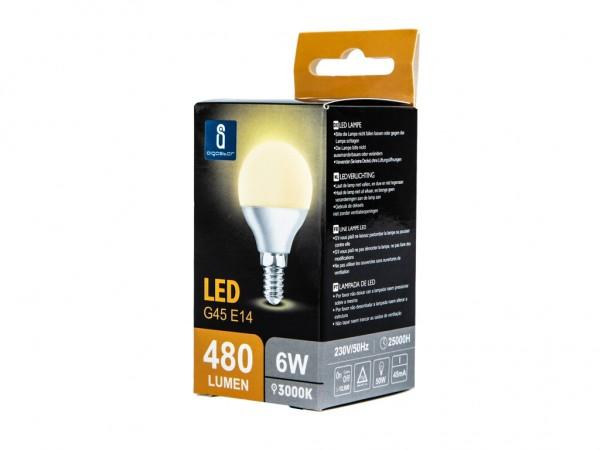 LED Leuchtmittel A5 G45 6W E14 3000K warmweiss