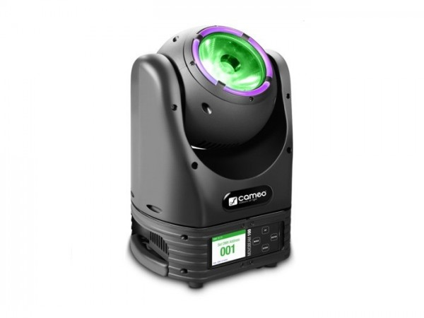 MOVO BEAM 100 60W RGBW Beam Moving Head RGBW + LED Ring 9-39 DMX Kanäle 5,5° 360°-Rotation