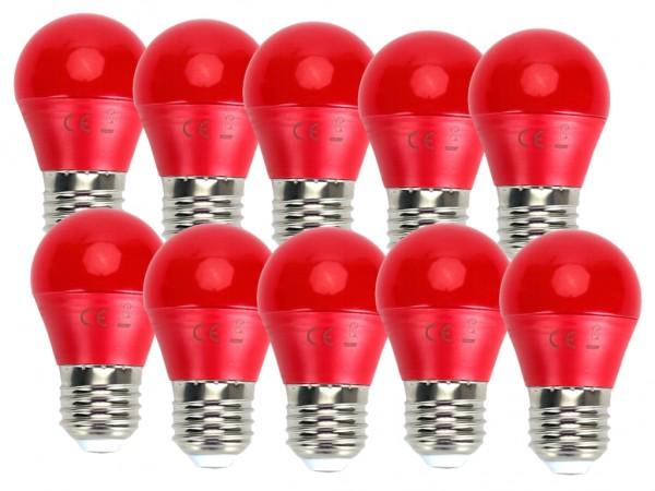 LED Leuchtmittel A5 G45 4W E27 Rot 10er Pack