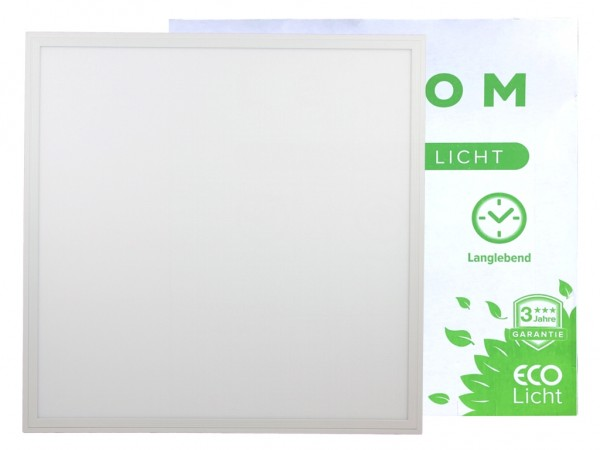 LED Panel 620x620x9mm, UGR19, 4000K, 40W, 3600lm, CRI Ra>90, inkl Netzteil