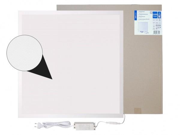 LED Panel 620x620mm UGR19 3000K 30W 3450lm weißer Rahmen inkl. Netzteil