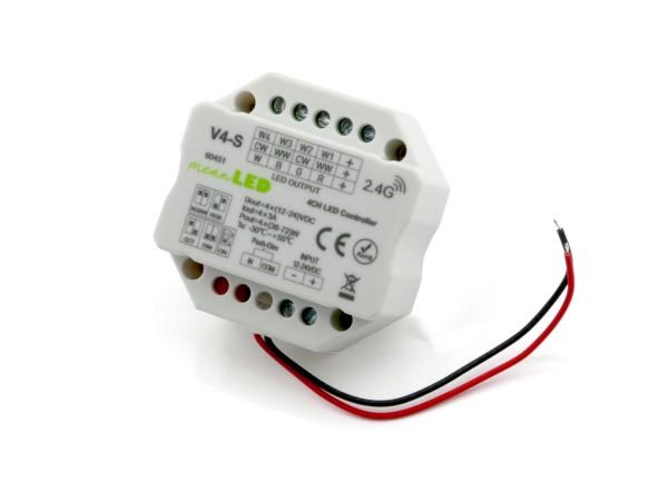 V4-S Kompaktempfänger 4x3A CV Push-Dim 2,4GHz DC12-24V