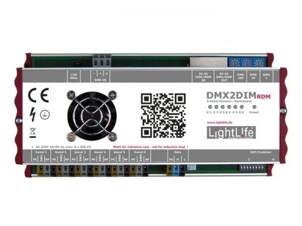 DMX2DIM 6-Kanal DMX / RDM Dimmer 6x 300W