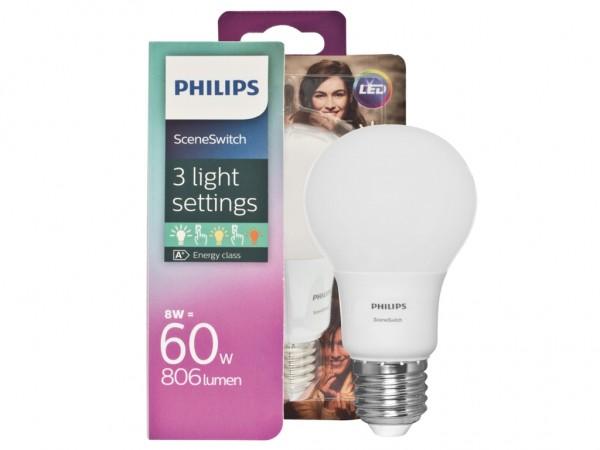 LED Leuchtmittel SceneSwitch 3 Dimmstufen 8W 2700-2200K 806lm