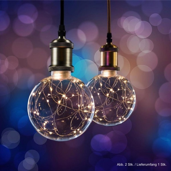 LED Effekt Leuchtmittel Lichterkette Globe G125 E27 1,5W 2700K