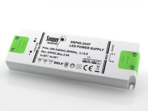 SNP-60-24 LED Netzteil 24V 2,50A TÜV constant voltage
