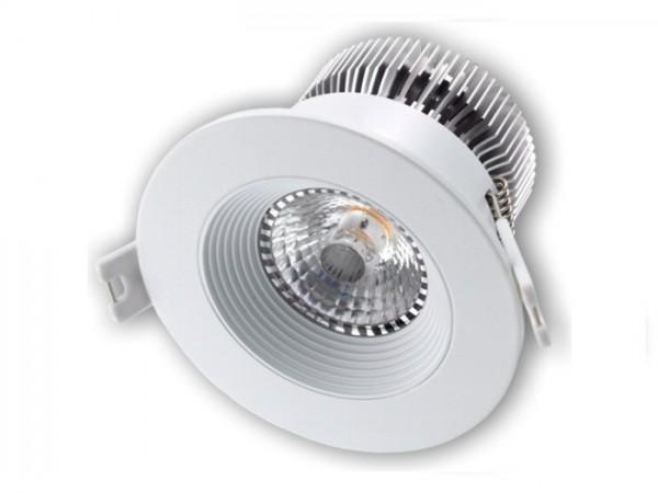 DL-2012W LED Einbaudownlight weiss, 12W CREE COB 1100-1300lm, inkl. dimmbaren Netzteil