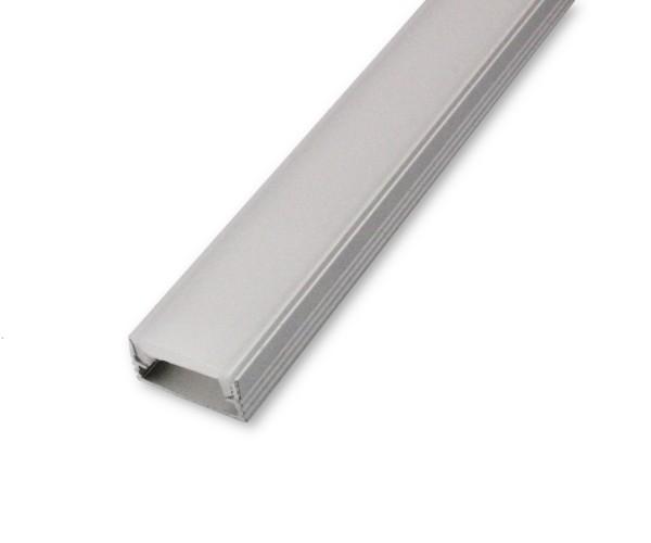 LED Alu-Profil AL-01AB 2m inkl. Blende Aufbauprofil