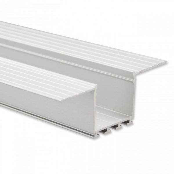 LED Alu-Profil YN9 (satiniert) ohne Blende 2m