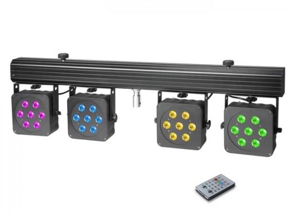 MultiPAR3 Kompakte 28 x 8 W Quad Colour LED Lichtanlage inkl. Transportcase + Fernbedienung