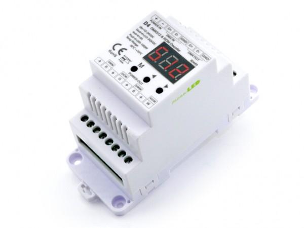D4 4-Kanal DMX/RDM Controller 4x5A Hutschiene 2 PWM Frequenzen