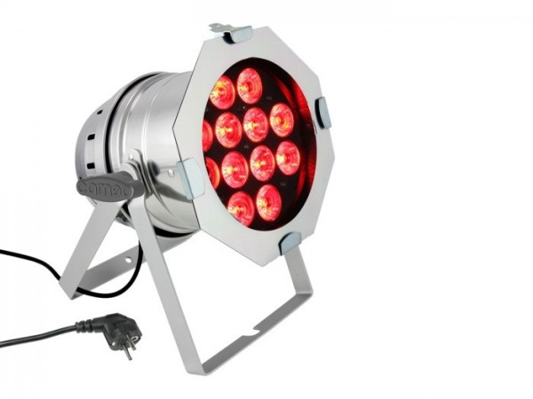LED PAR64 RGBWA+UV 12x10W 6-in1LED, 9 DMX Kanäle, polish