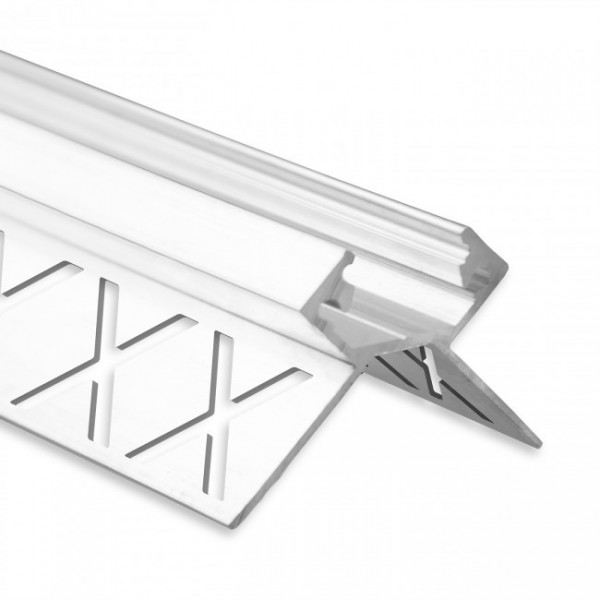 LED Fliesen-Profil PF5 (satiniert) ohne Blende 2m