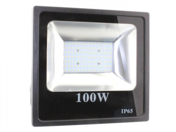 LED Flutstrahler 100W 120° 110lm/w CRI >80 Ra Schwarz IP 65 Outdoor
