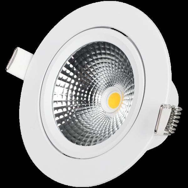 LED Downlight 7W Weiss 350lm 2000-2700K Triac Dimmer CRI >95 dim-to-warm