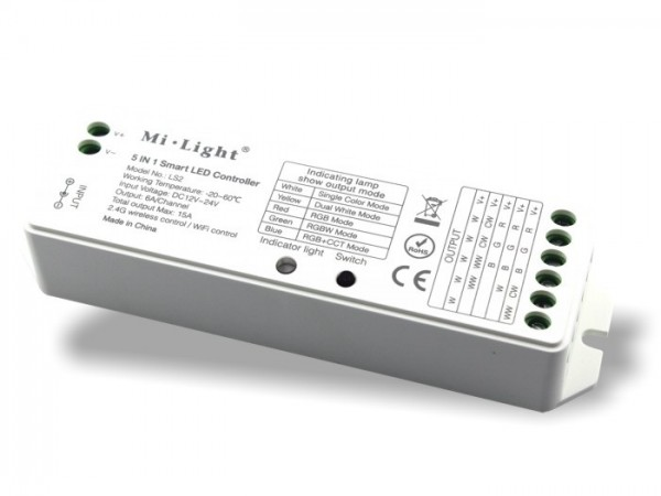MI-LS2 5-in-1 Smart LED Empfänger Controller 2,4GHz, max. 15A
