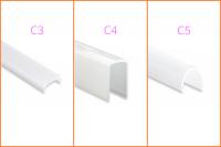 Kunststoffblende zu LED-Aluprofil YL5/ 6 / YO15