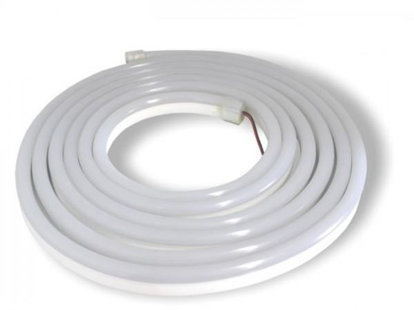 LED Flex Stripe NEON-TUBE 5m 3000K opalweißer Schlauch ohne Pixel 24V DC 60LED/m IP65 hoch biegsam