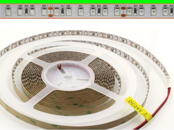 LED Flex Stripe 5m 3528 SMD 120LEDs/m 24V Grün
