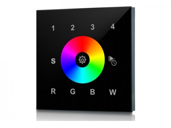 SR-2812B RF LED Touchcontroller (RGBW) 4-Zonen Funk+DMX 868MHz 10 Programme 16 Speicherplätze
