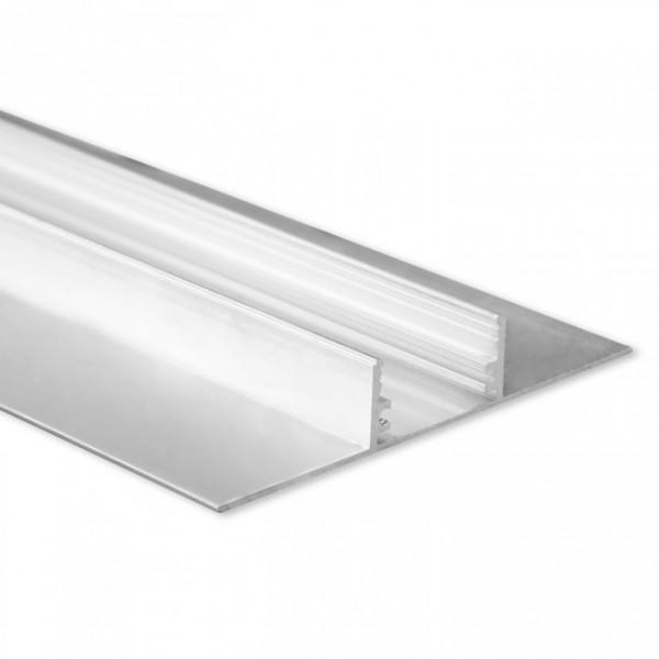 LED Gipsplatten-Profil TBP5 (satiniert) ohne Blende 2m