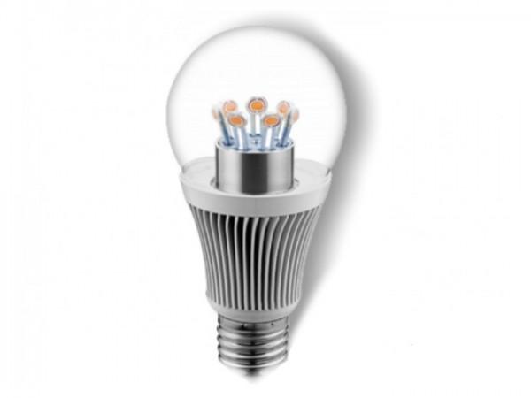 LED X5 Birnenlampe 10W 750lm/m 230V 2700K, dimmbar, Glas klar