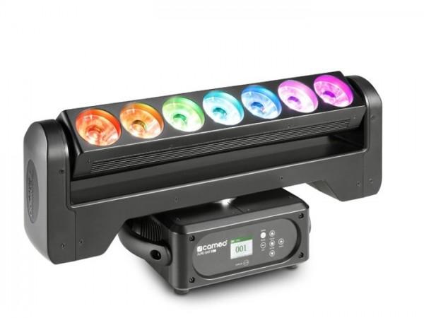 AURO BAR 100 7x 15W Moving LED Bar RGBW 9-39 DMX Kanäle 4° Beam 360°-Rotation