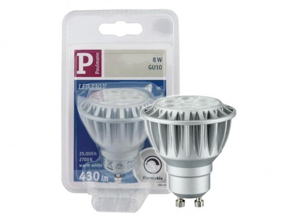 LED Leuchtmittel GU10 8W dimmbar 2700K 430lm 36°
