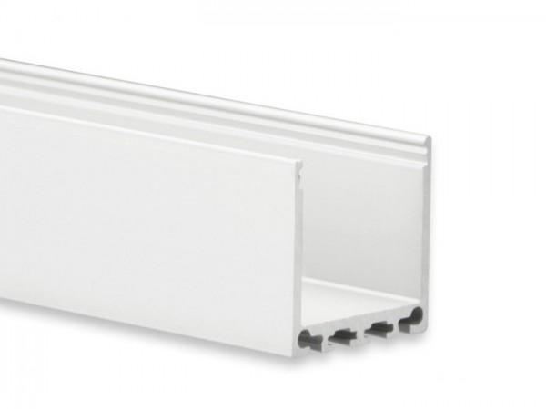 LED Alu-Profil YN6 (satiniert) ohne Blende 2m 24mm Innenbreite