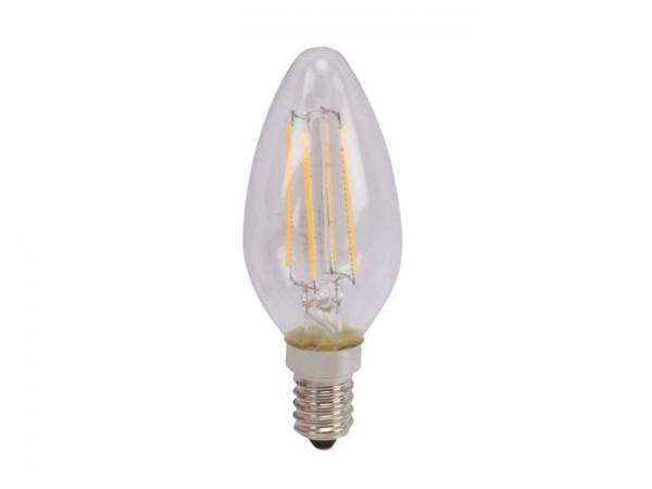 LED Kerzenlampe 5W 2700K 230V 450lm, Glas klar