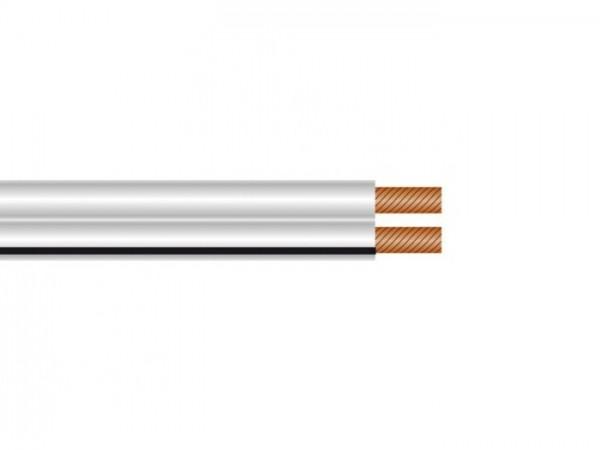 Niedervolt Installationskabel 2x 0,75mm² weiss, für 12V-24V Zuleitungen
