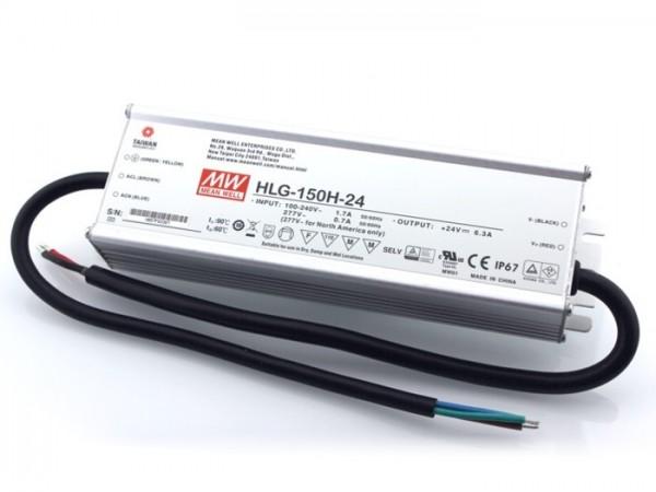 HLG-150H-24 In- und Outdoor Netzteil IP65 24V / 150W / TÜV