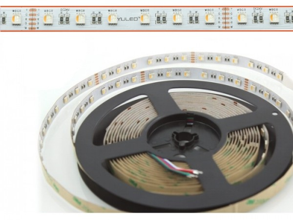 LED Flex Stripe 5m RGBW-XC 60x 4-in1 LEDs/m RGB+kaltweiss 24V