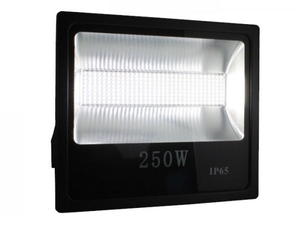 LED Flutstrahler 250W 120° 110lm/w CRI >80 Ra Schwarz IP 65 Outdoor