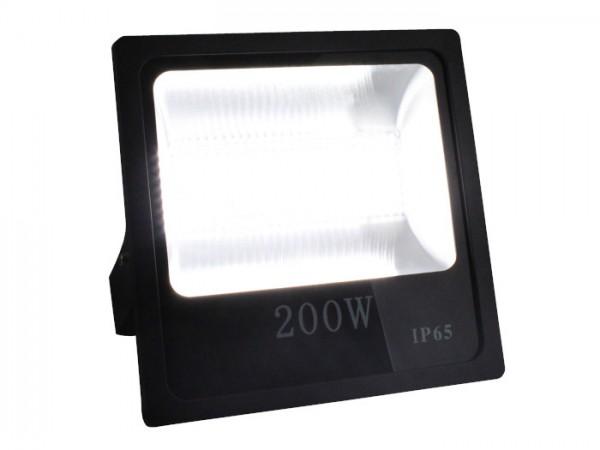 LED Flutstrahler 200W 120° 110lm/w CRI >80 Ra Schwarz IP 65 Outdoor