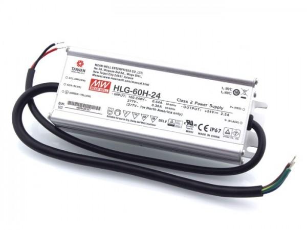 HLG-60H-24 In- und Outdoor Netzteil IP65 24V / 60W / TÜV