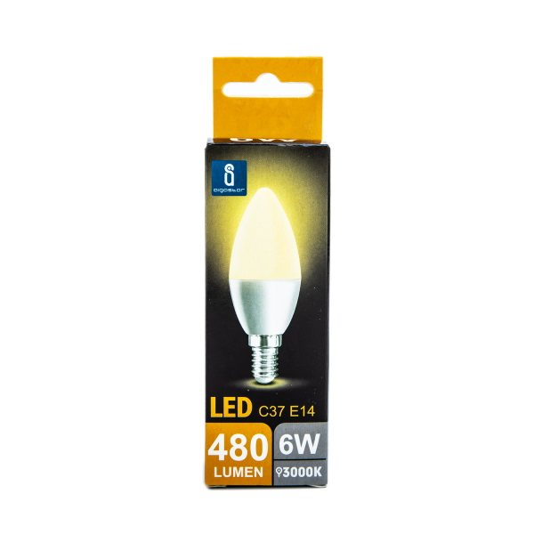 LED Kerzen-Leuchtmittel E14 6W 3000K 480lm