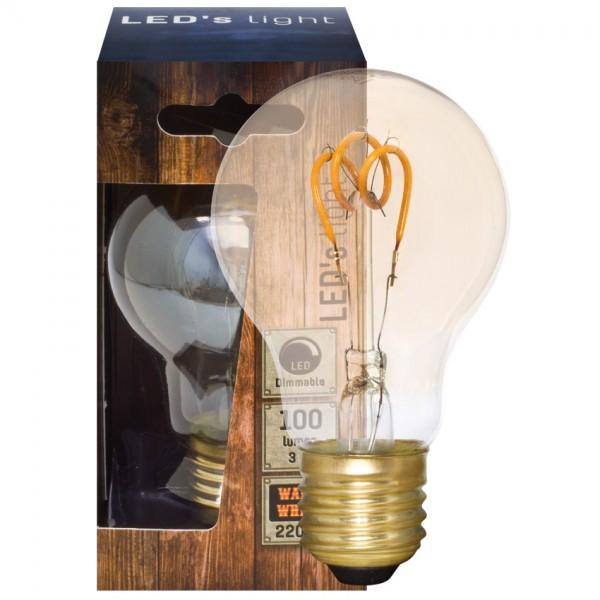 Dekoratives Spiral-LED Leuchtmittel 2200K, gold getönt, 3W AGL