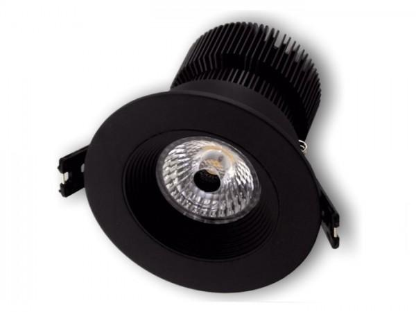 DL-2018B LED Einbaudownlight schwarz, 18W CREE COB 1800-2200lm, inkl. Netzteil
