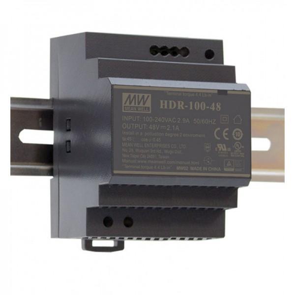 HDR-100 Hutschienen Netzteil 100W / ultra-slim / CV / TÜV