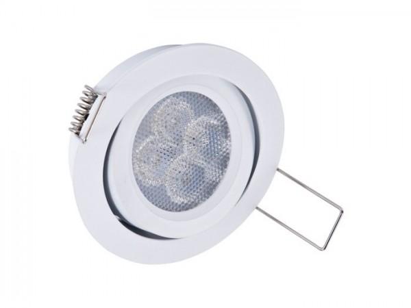 DL-WW-I8 LED Einbaudownlight schwenkbar, 8W SHARP 620lm, inkl. Netzteil dimmbar