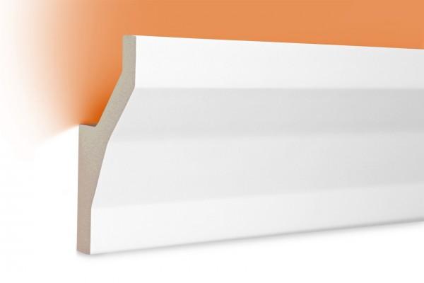 LED Stuckprofil Typ: 8 - 95x45mm PU 2m Länge lichtundurchlässig überstreichbar