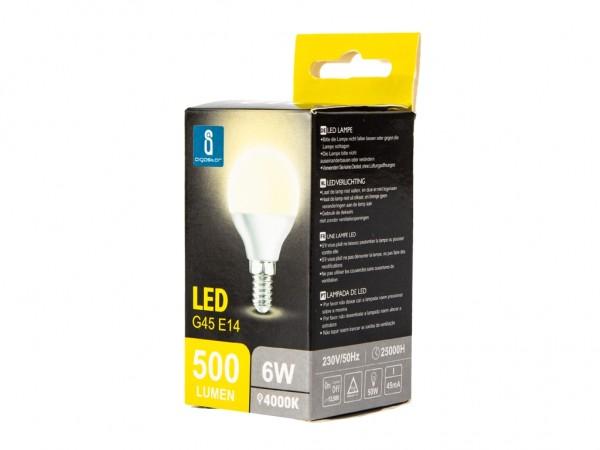 LED Leuchtmittel A5 G45 6W E14 4000K neutralweiss