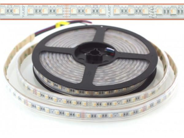 LED Flex Stripe 5m RGBW-XC 84x 4-in1 LEDs/m RGB+warmweiss 24V IP67