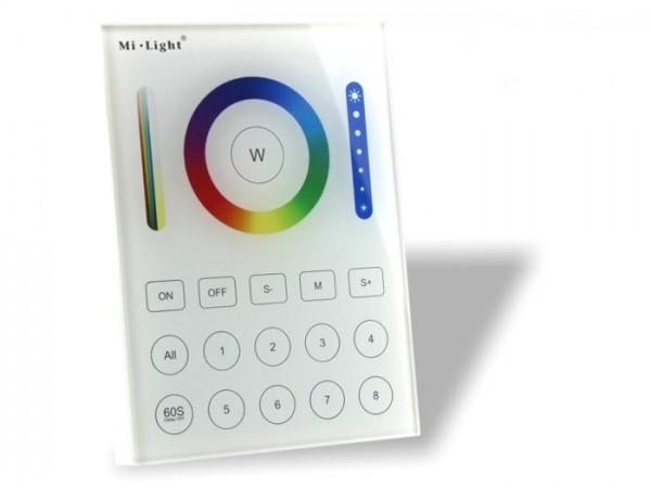 MI-B8 LED Wandcontroller 5-Kanal RGB+CCT 8 Zonen 2,4GHz